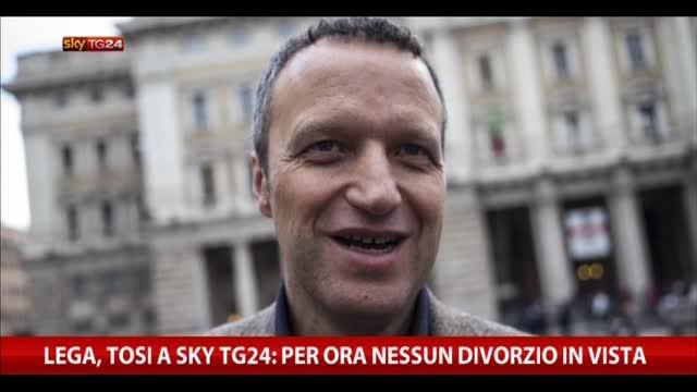 Lega, Tosi a Sky TG24: per ora nessun divorzio in vista