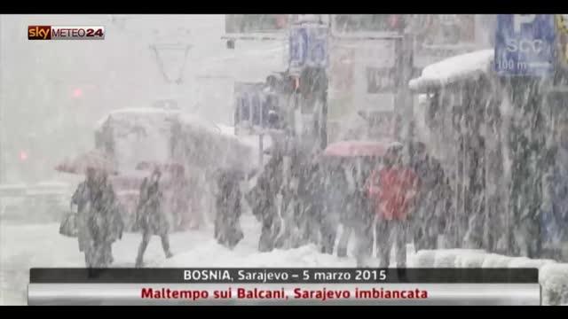 Maltempo sui Balcani, Sarajevo imbiancata