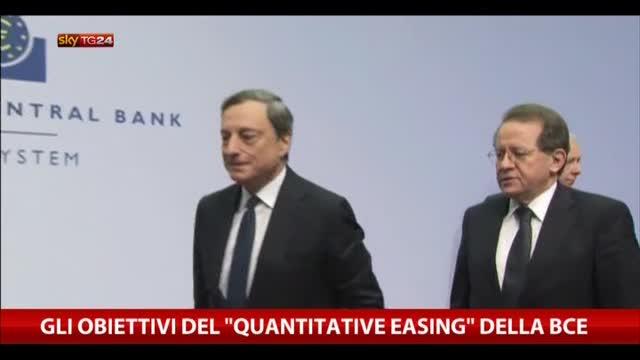 """Gli obiettivi del """"Quantitative easing"""" della Bce"""