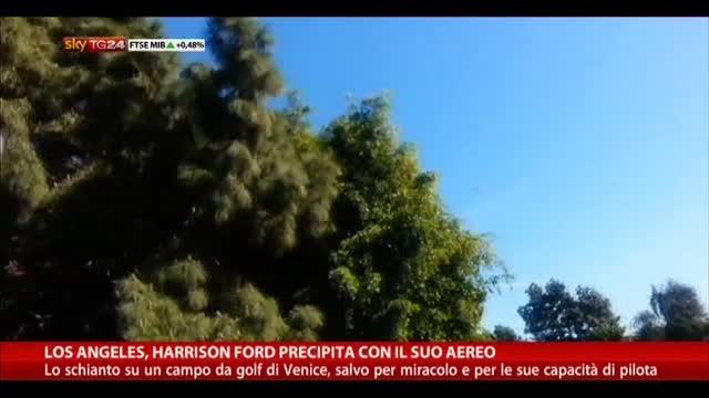 Los Angeles, Harrison Fors precipita con il suo aereo