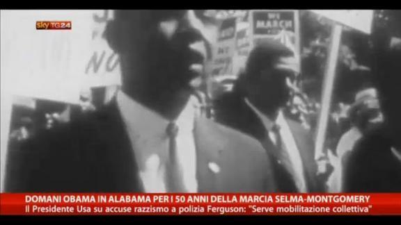 Domani Obama in Alabama per 50 anni marcia Selma-Montgomery