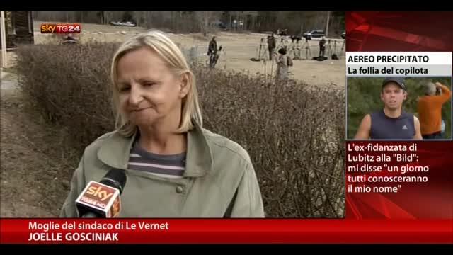 Aereo caduto, testimonianza moglie del sindaco di Le Vernet