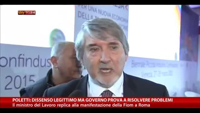 Poletti: dissenso ok ma Governo prova a risolvere problemi