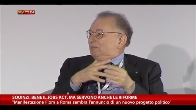 Squinzi: bene Jobs Act, ma servono anche le riforme
