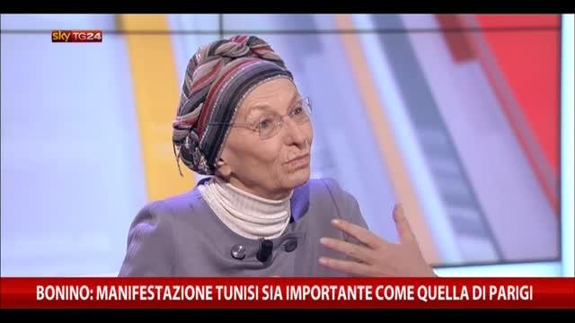 Bonino: manifestazione Tunisi importante come quella Parigi