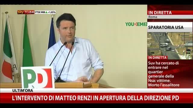 Renzi: chiedo voto e mandato da direzione PD
