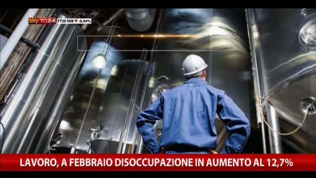 Lavoro, a febbraio disoccupazione in aumento al 12,7%