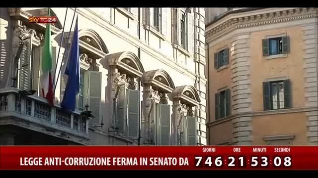 Legge anti-corruzione ferma in Senato da 746 giorni