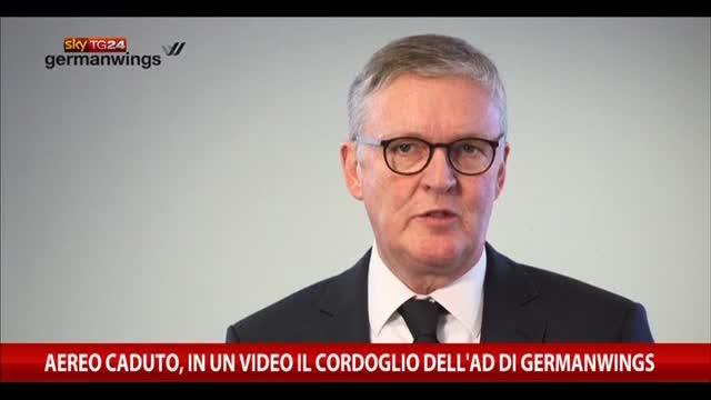 Aereo caduto, in un video cordoglio dell'AD Germanwings