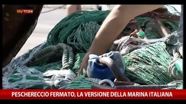 Peschereccio fermato, la versione della Marina Italiana
