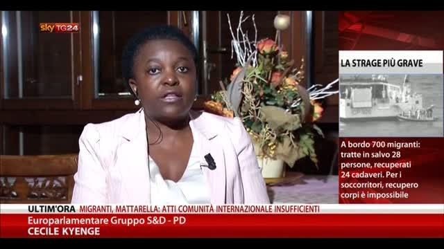Strage migranti, le parole di Cécile Kyenge