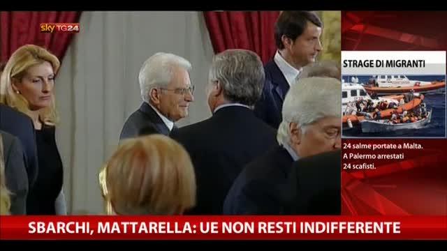 """Sbarchi, Mattarella: """"L'UE non resti indifferente"""""""