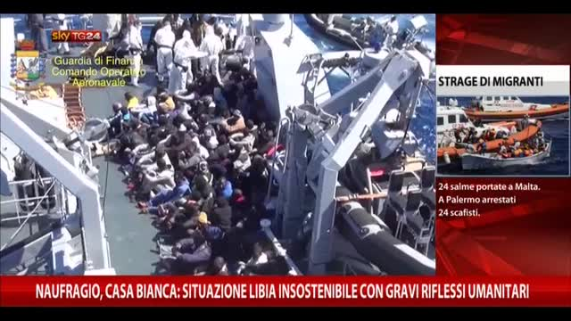 """Naufragio, Casa Bianca: """"In Libia situazione insostenibile"""""""