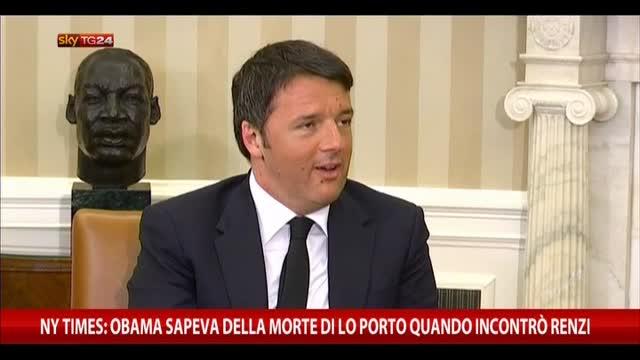 NY Times: Obama sapeva morte Lo Porto quando incontrò Renzi