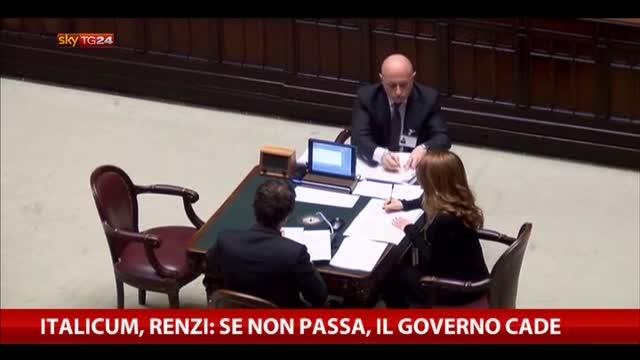 Italicum, Renzi: se non passa, il Governo cade