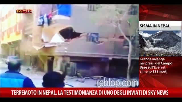 Sisma Nepal, testimonianza di uno degli inviati di Sky News