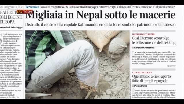 Rassegna stampa nazionale (26.04.2015)