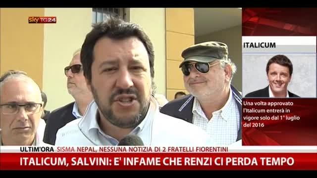 Italicum, Salvini: è infame che Renzi ci perda tempo