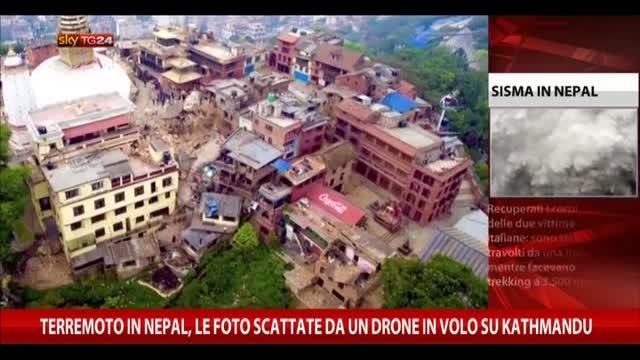 Terremoto in Nepal, le foto di un drone in volo su Kathmandu