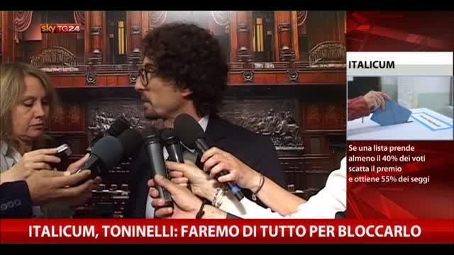 Italicum, Toninelli (M5S): faremo di tutto per bloccarlo