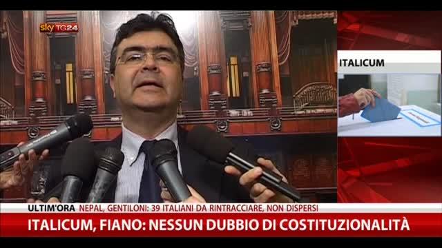 Italicum, Fiano: nessun dubbio su incostituzionalità