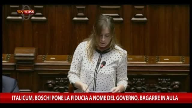 Italicum, Boschi pone la fiducia a nome del Governo