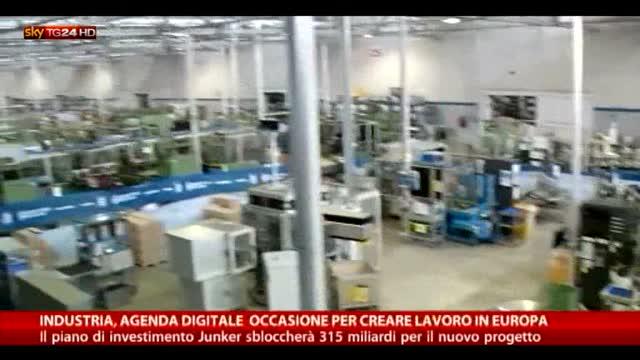 Industria, agenda digitale occasione per creare lavoro