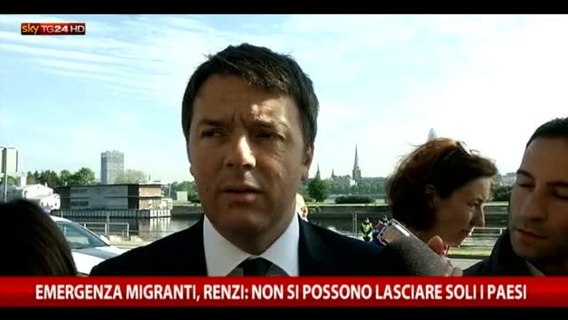 """Migranti, Renzi: """"C'è spazio per trovare intesa"""""""