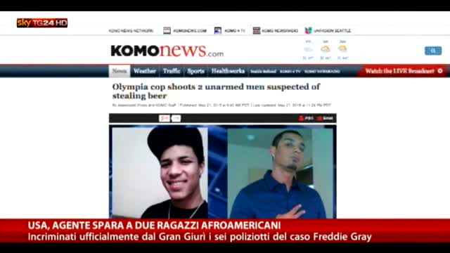 Usa, polizia spara a due afroamericani