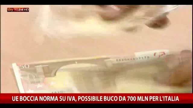 La Ue boccia norma sull'Iva, possibile buco da 700 milioni