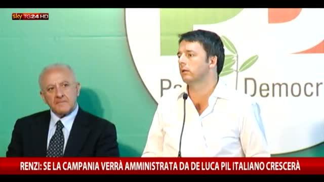 Il comizio di Renzi a sostegno di De Luca