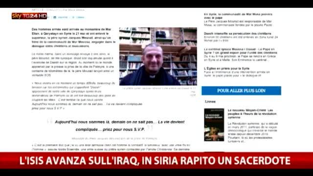 L'Isis avanza sull'Iraq, in Siria rapito un sacerdote