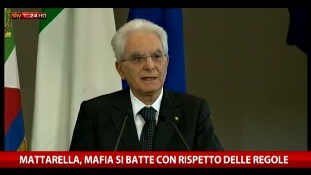Mattarella: Mafia si batte con rispetto delle regole