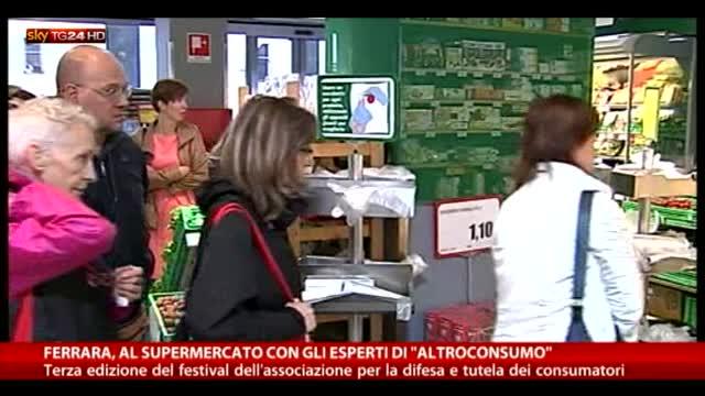 Ferrara, al supermercato con gli esperti di Altroconsumo