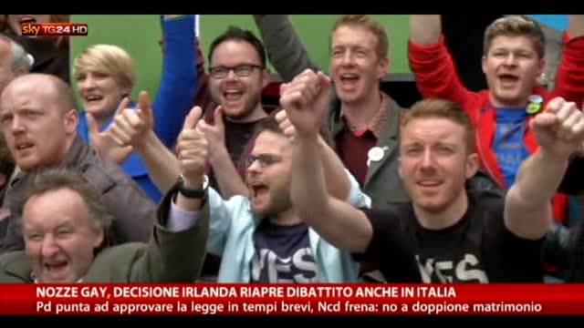 Nozze gay, sì dell'Irlanda: le reazioni in Italia