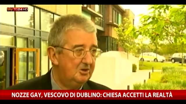 """Nozze gay, vescovo Dublino: """"Chiesa accetti la realtà"""""""