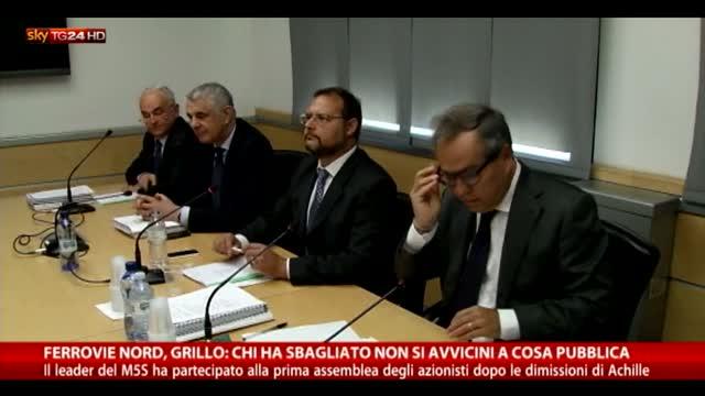 """Ferrovie Nord, Grillo  """"Chi ha rubato deve restituire tutto"""""""