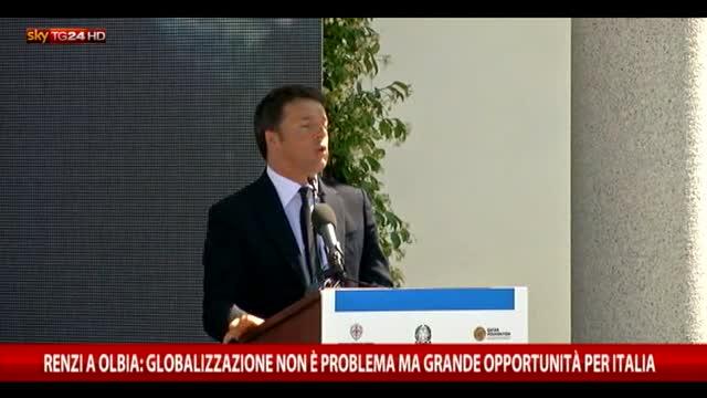 Renzi: globalizzazione non è problema ma grande opportunità