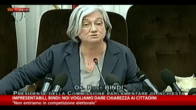 """Impresentabili, Bindi: """"Vogliamo dare chiarezza a cittadini"""""""