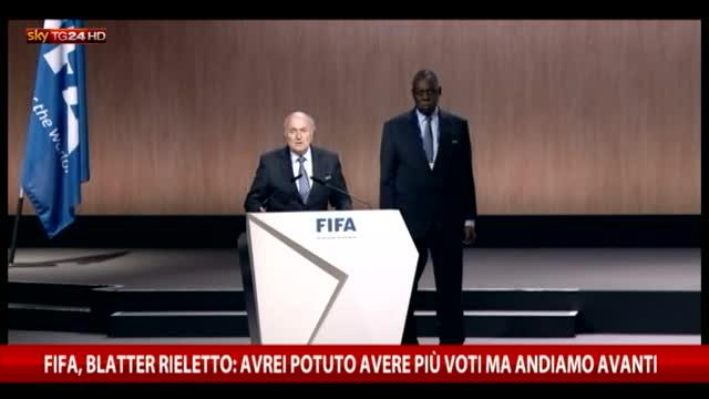 Fifa, Blatter rieletto: avrei potuto avere più voti