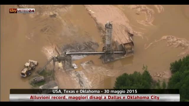 Usa, piogge record causano alluvioni in Texas e Oklahoma