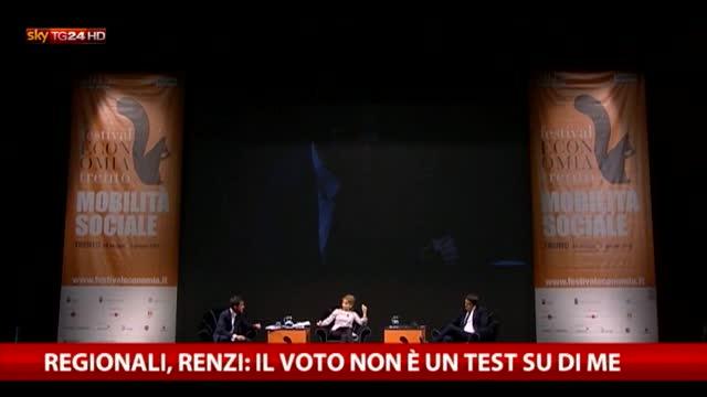 Regionali, Renzi: il voto non è un test su di me