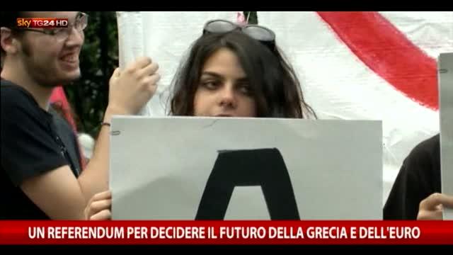 Un referendum per decidere futuro della Grecia e dell'euro