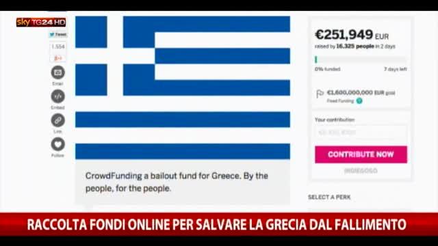 Grecia, raccolta fondi online per salvare il Paese