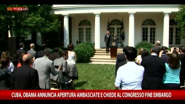 Cuba: Obama annuncia apertura ambasciate