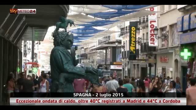 Ondata di caldo in Spagna
