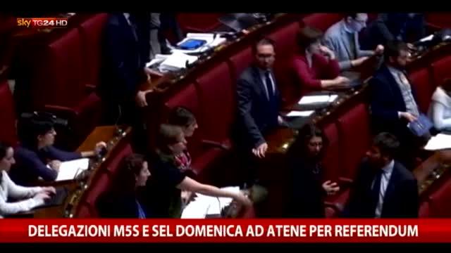 Sel e M5S, asse pro Tsipras in attesa del referendum