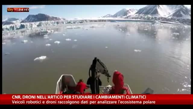 Robot e droni per studiare conseguenze cambiamenti climatici
