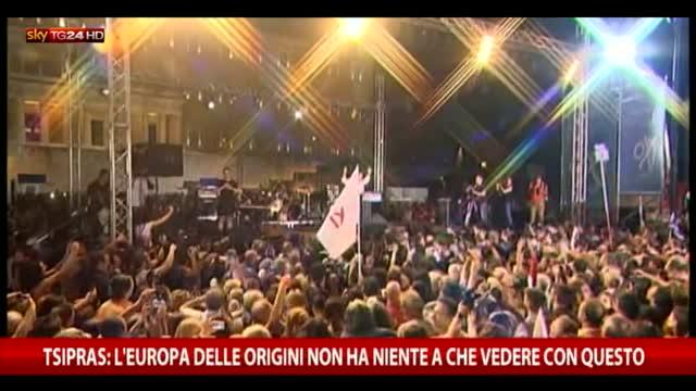 """Tsipras: """"Gli occhi dell'Europa sono sul popolo greco"""""""
