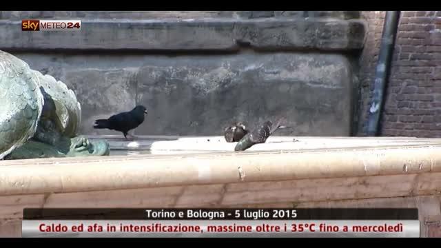 Caldo e afa nelle città italiane
